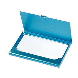 Business Card Case - lightblue 7,5mm